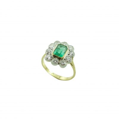 Emerald Diamond Cluster