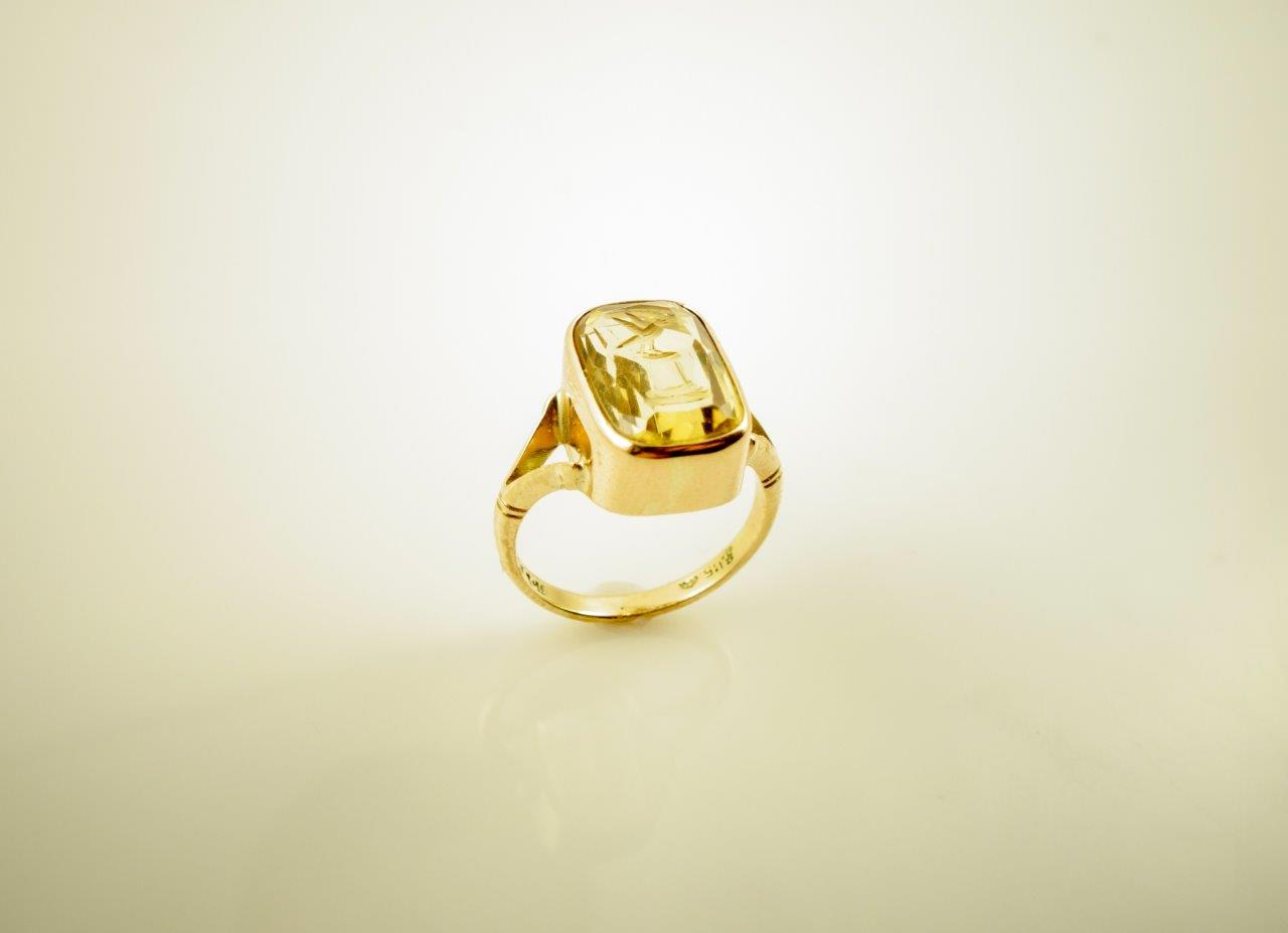 Ring - 15ct citrine intaglio