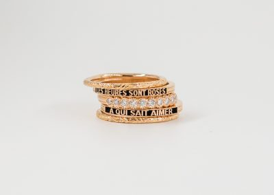 The Hours Ring Rose Gold with Diamonds