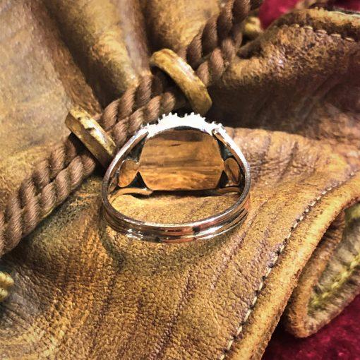 Georgian Mourning Ring Closed back