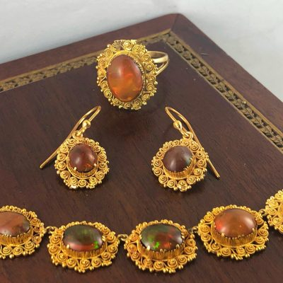 Mexican Fire Opals - Antique Jewellery Sydney