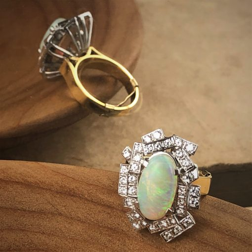 Opal and Diamond Ring - Dress Ring Sydney