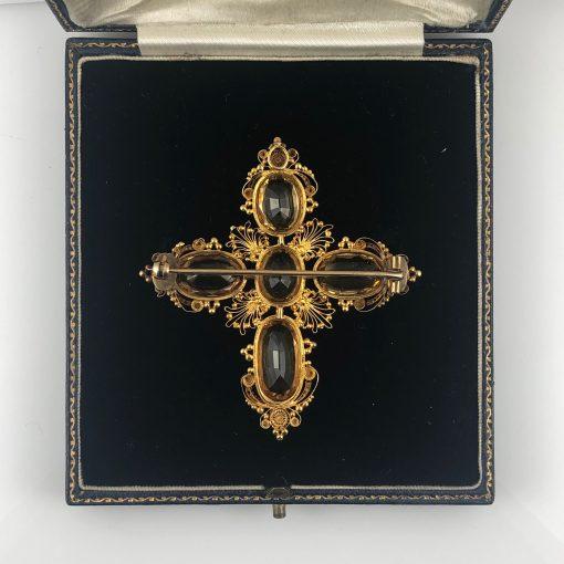 Regency Gold Topaz Cruciform Brooch