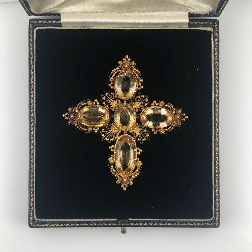 Regency Gold Topaz Cruciform Pendant